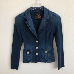 G By Guess Women's Blazer Jacket Light Distressing